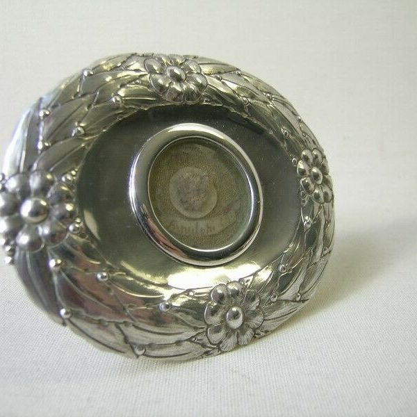 antique silver reliquary relic Saint Arnulf of Soissons (hop pickers,brewers)
