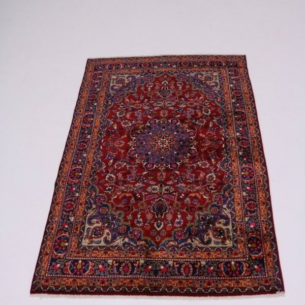 Handmade Vintage Traditional Red 6X10 Floral Area Oriental Rug Home Decor Carpet