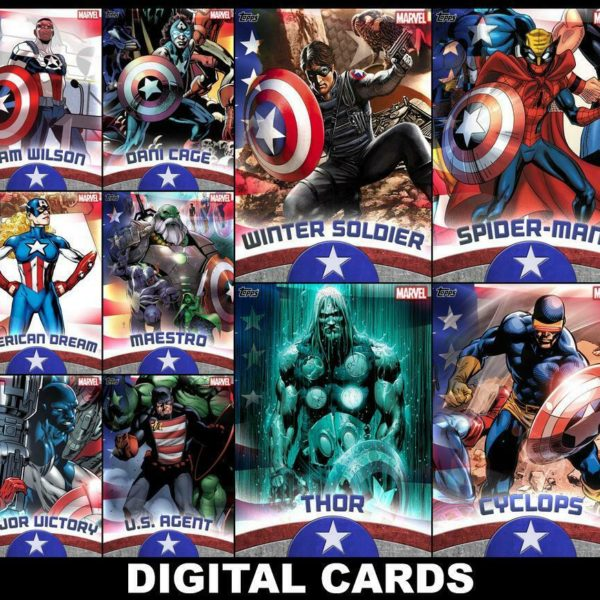Topps Marvel Collect SHIELD WIELDERS 2020 [10 CARD SET] Spider-Man/Thor+++