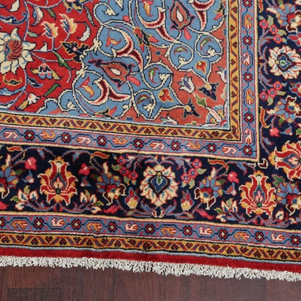 Vintage Floral Sarouk Oriental Area Rug Wool Handmade Home Decor Carpet 7'x10'