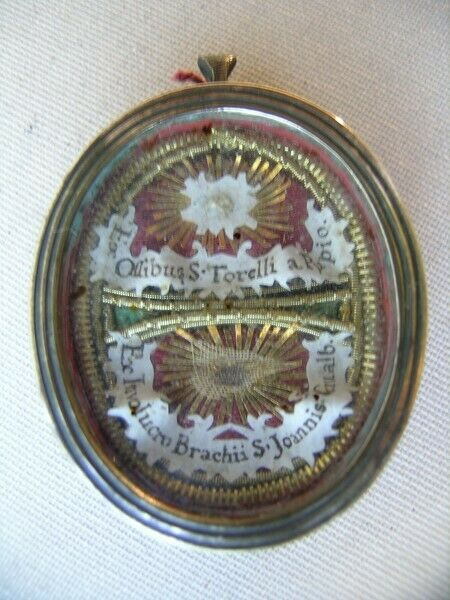 Reliquary relic Blessed Torello of Poppi, Saint John Gualbert (forest workers)