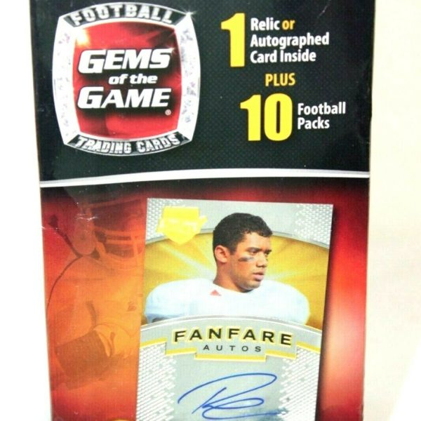 Gems of the Game NFL Football Factory Sealed Box (1) Relic/Autograph Card 2014