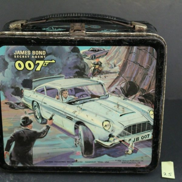 James Bond, Secret Agent, 007, 1966 Vintage Aladdin Lunchbox 25