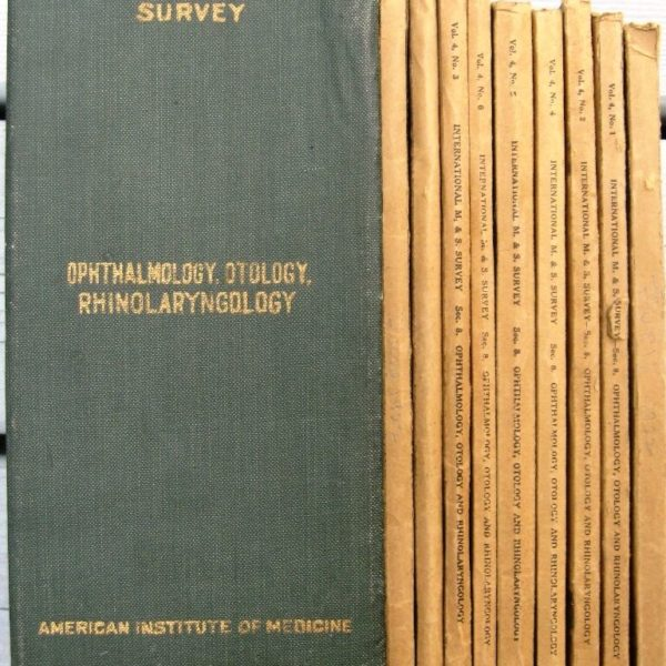 9 Issue lot 1922 Medical & Surgical Journal (Eye Ear Nose Larynx) OPHTHALMOLOGY