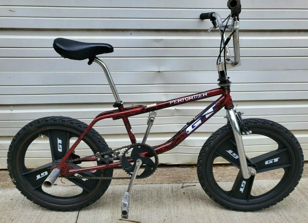 RARE Vtg 1996 GT Performer 4130 Pro RED SPLASH Freestyle BMX Bike Bicycle Dyno