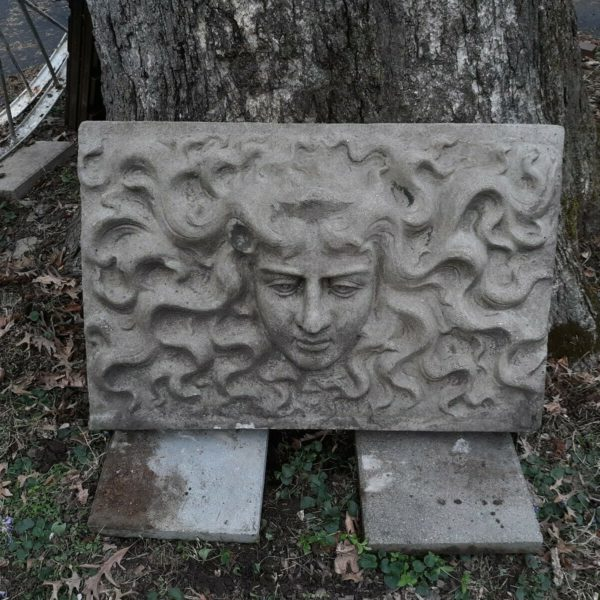 Medusa Large Vintage Concrete  Architectural  Outdoor Garden Sculpture