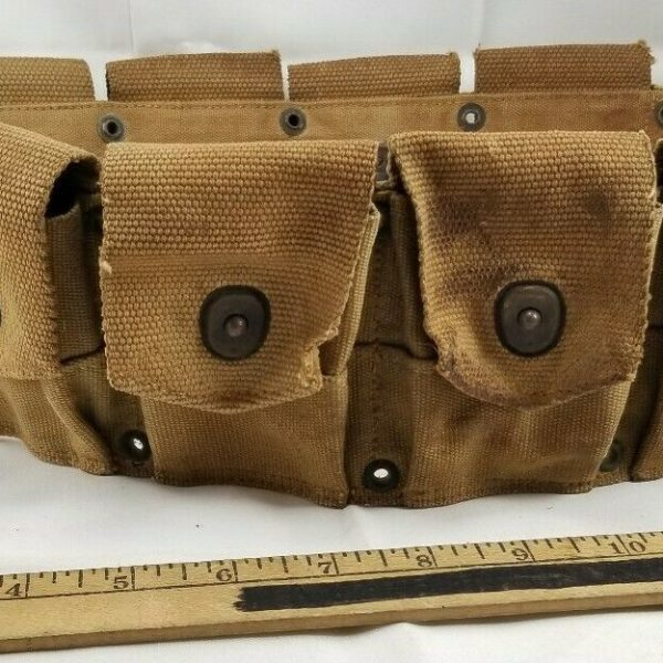 WWII US Army Dismounted Ammunition Cartridge Belt M1 Garand