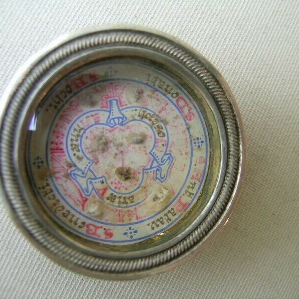 antique reliquary relic blessed Virgin Mary,Saint Anne,Joseph,Roch,Anthony,Donat