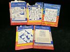 5 Vintage ORIGINAL Embroidery Transfer Patterns ALL Aunt Martha's Linens Towels