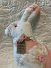 Large Antique Rose Quilt Primitive Bunny   Sculptured Ears  Kindness Matters