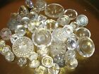 Vintage lot of 41 Clear Glass Sewing Buttons Great Patterns