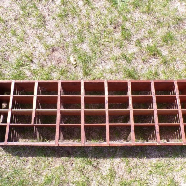 Antique Wooden Pigeon Hole Mail Mercantile Slot Sorter Box Primitive Display