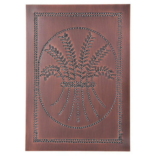 Country new Solid Copper WHEAT cabinet panel