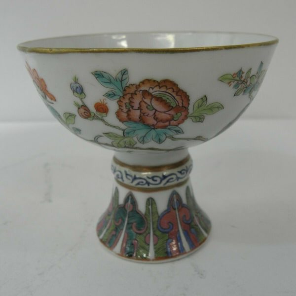 CHINESE PORCELAIN STEM CUP 20THc