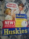 VINTAGE WHOLE WHEAT FLAKES EASEL BACK CARDBOARD ADVERTISING SIGN
