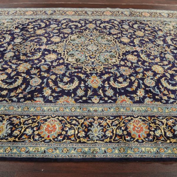 Breathtaking NAVY Floral Ardakan Area Rug Hand-Knotted Traditional Carpet 10x13