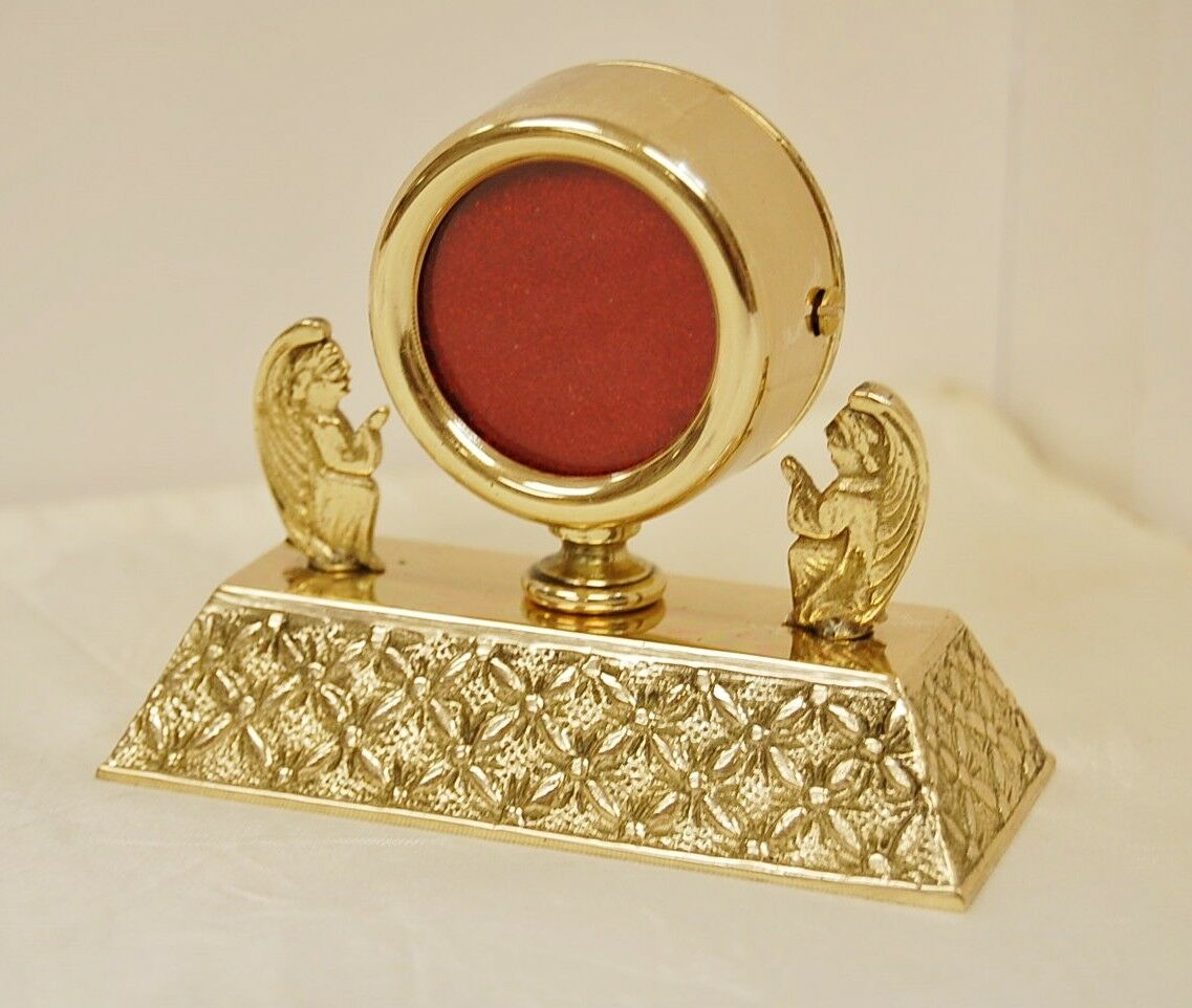 """+ Nice Brass Angel Reliquary for your Relic 2 7/8""""Ht. + (#367) + Church, Saint +"""