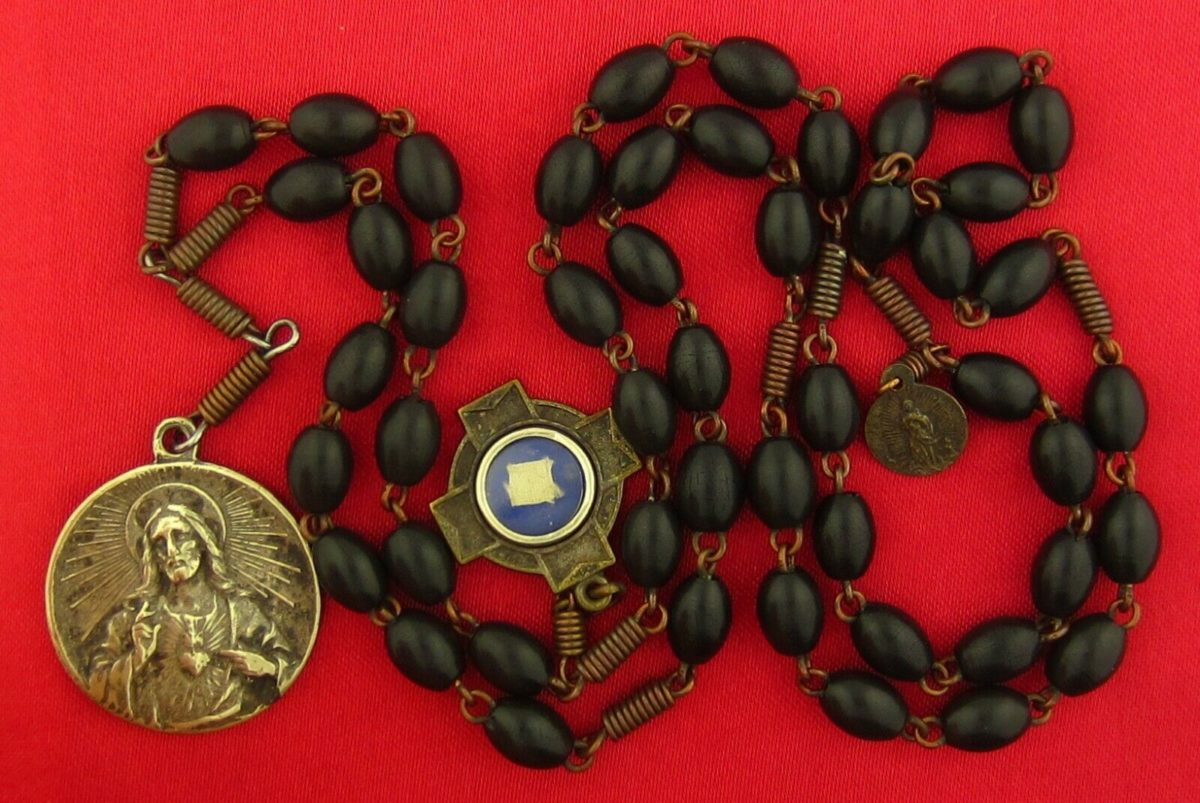 Vintage Antique 7 SEVEN SORROWS OF MARY Chaplet BERNADETTE RELIC Chaplet Rosary