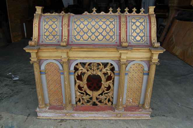 + 250 year old carved wood Reliquary, relic house +