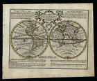World in hemispheres California as Island undefined Australia c.1760 de Leth map