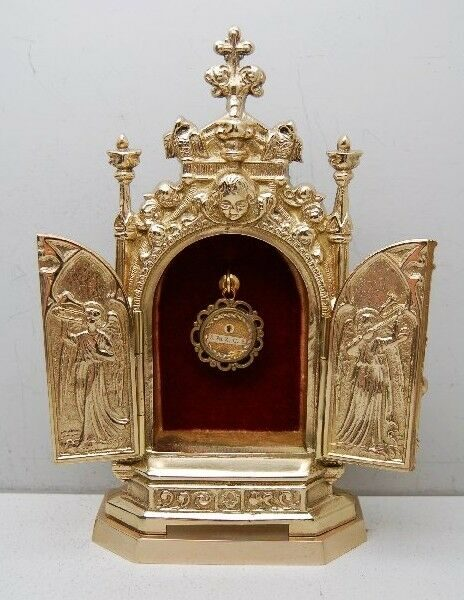 + Traditional Gothic Triptych Reliquary for your Relic + chalice co. (#46)