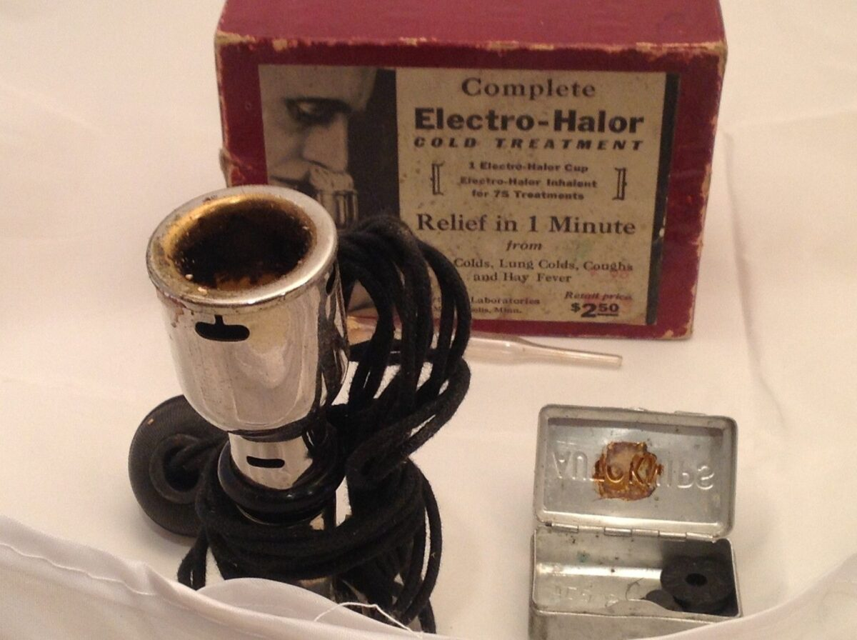 Vintage Electro Halor Cold Treatment Northern Labs Science Medicine  Minn