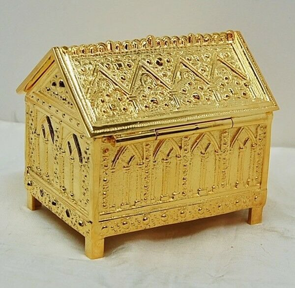 + Gold Plated Tabernacle Key Box + Relic box + Relic Shrine - #333