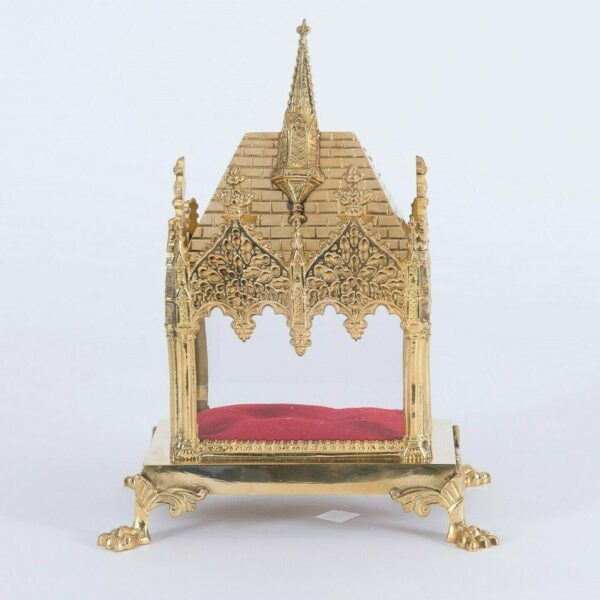 + Traditional Brass French Style Reliquary Shrine + House for your Relic + (#18)