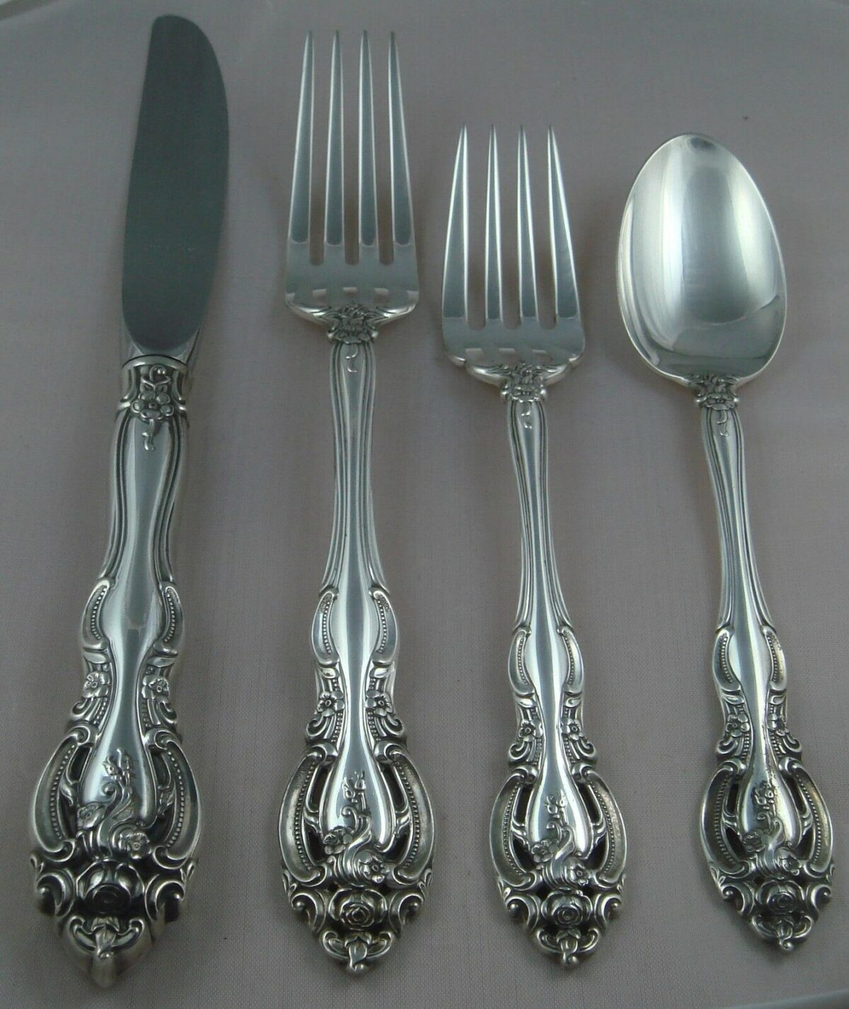 @ Gorham LaScala Sterling Silver Four ( 4 ) Piece Setting