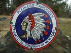 VINTAGE 1937 STANDARD OIL CO. PORCELAIN GAS SIGN PEERLESS NEW YORK INDIAN CHIEF