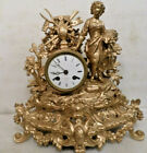1890 French Striking Statue Clock By Japy Freres