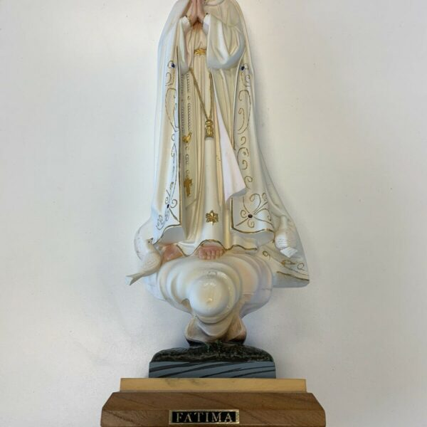 """VINTAGE OUR LADY OF FATIMA PRIESTS ALTAR FIGURINE STATUE MUSIC BOX 20"""" Statue"""
