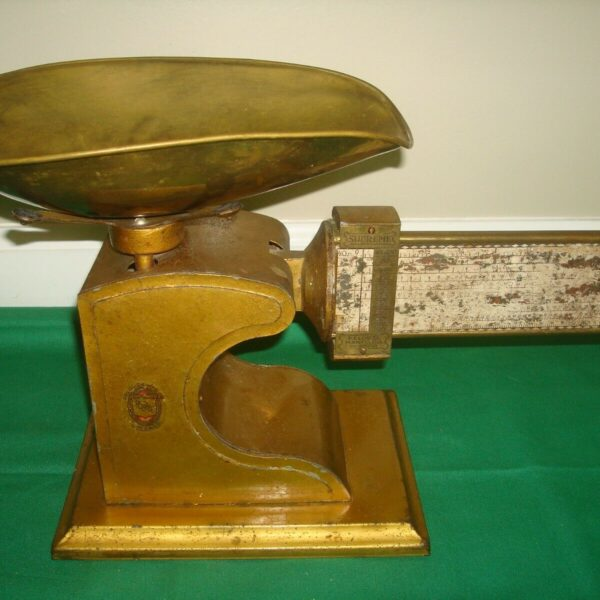 Antique Scale Pelouze Supreme Mercantile Candy Calculating Scale 2 LBS
