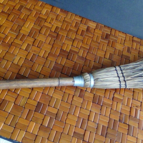 Beautiful Vintage Handcrafted Natural Bristle Hearth Broom / Fireplace Tools