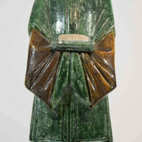 Old Ming Style Chinese Earthenware Pottery Sancai Funerary / Tomb Figure