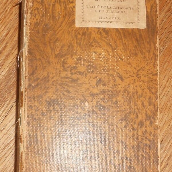 1921 Antique Medical Book Traite de la cataracte et du glaucoma par Brisseau