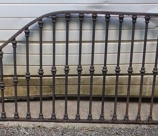 Antique Wrought Iron Tack Room Divider Horse Barn Stall Old 935-16