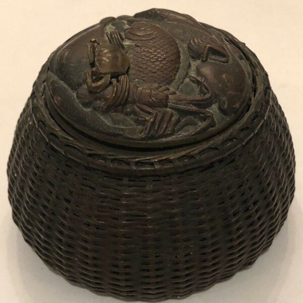 Antique Chinese Bronze Inkwell