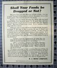 1909 HEINZ HEALTH FOOD DRUG LAW MEDICAL SCIENCE PURE ACT DOCTOR  FB74FB074