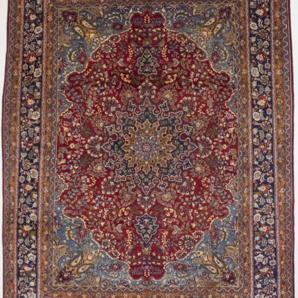 Semi Antique Traditional 10X13 Sabzevar Hand Knotted Oriental Area Rug Carpet