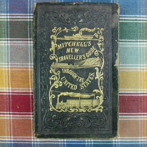 Mitchell's New Traveller's Guide Through the United States Pocket Book Map  1853