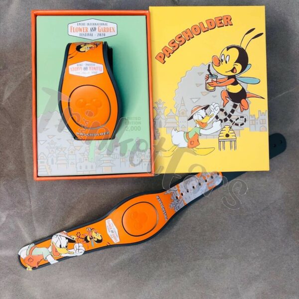 Disney Epcot Flower And Garden 2020 Passholder Magic Band LE 2000 Donald Spike