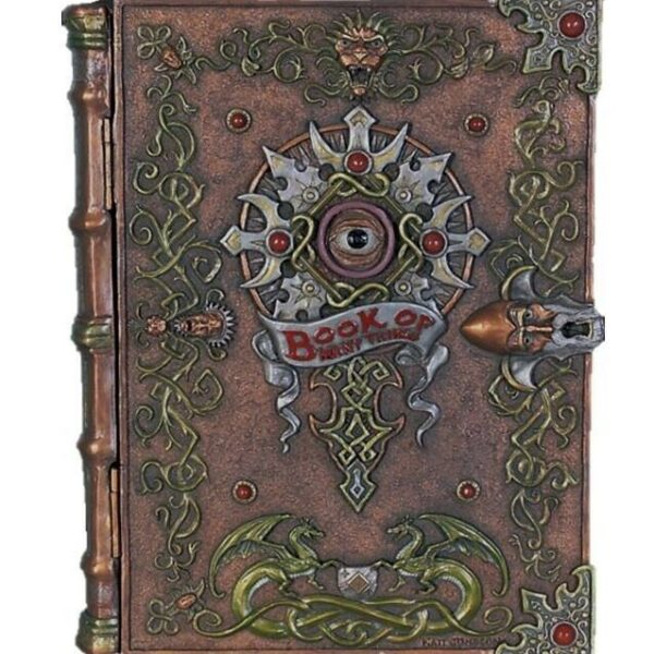 Magic Book Mythical Storage Container Prop Resin Decor