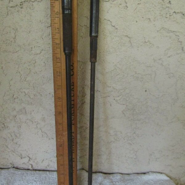 """VINTAGE SET OF 2 HAND BRACE DRILL BIT EXTENSIONS 18"""" LONG DRILLS FOR HAND DRILL"""