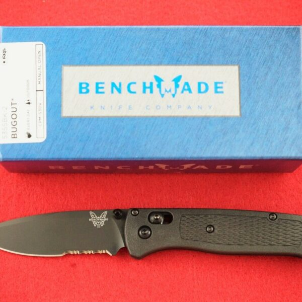 BENCHMADE 535SBK-2 BUGOUT CPM-S30V AXIS LOCK DLC COATED BLADE KNIFE, NEW IN BOX