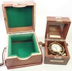 VINTAGE HAMILTON MODEL 22 21 JEWEL US NAVY SHIPS CHRONOMETER CLOCK W/ BOTH BOXES