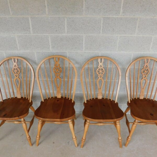 Ethan Allen Farmhouse Collection Windsor Style Hoop Back Chairs - Set of 4