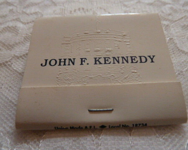 Presidential Matchbook JFK WHITE HOUSE Embossed