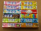 12 PACKS PEZ CANDY REFILLS-ALL DIFFERENT HARD TO FIND FLAVORS