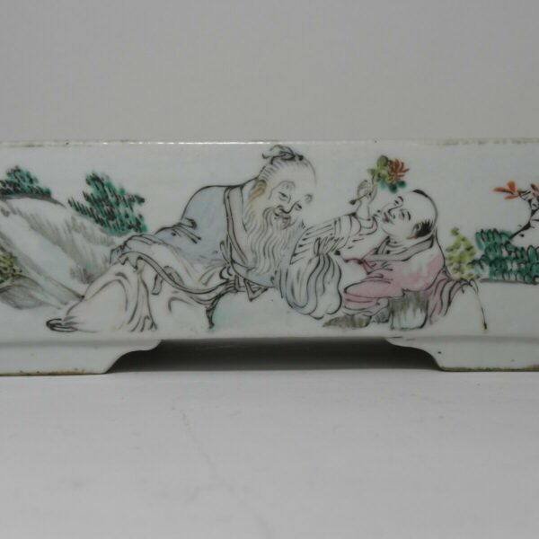 CHINESE PORCELAIN DAFFODIL / BULB TRAY